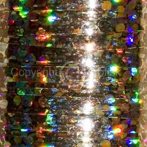 Flat Holographic tinsel S Gold
