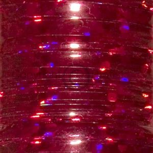 Flat Holographic tinsel. L Red