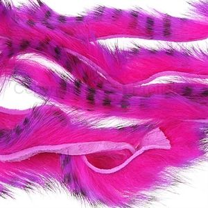 Tiger Barred Strips 3 mm. Black/Purple/ Fuchsia