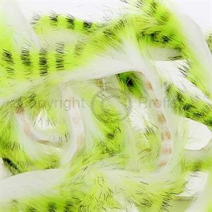 Tiger Barred Strips 3 mm. Black/Chartreuse/White