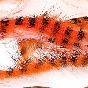 Tiger Barred Strips 3 mm. Hot Orange/Black/White