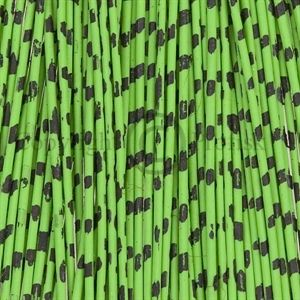Barred Round Rubber Legs M Chartreuse/Black