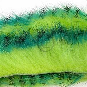 Tiger Barred Strips 3 mm. Green/Black/Ch.